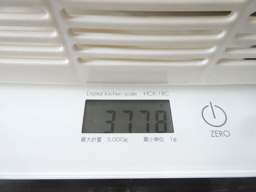 ロシ子の体重は3,778gです。