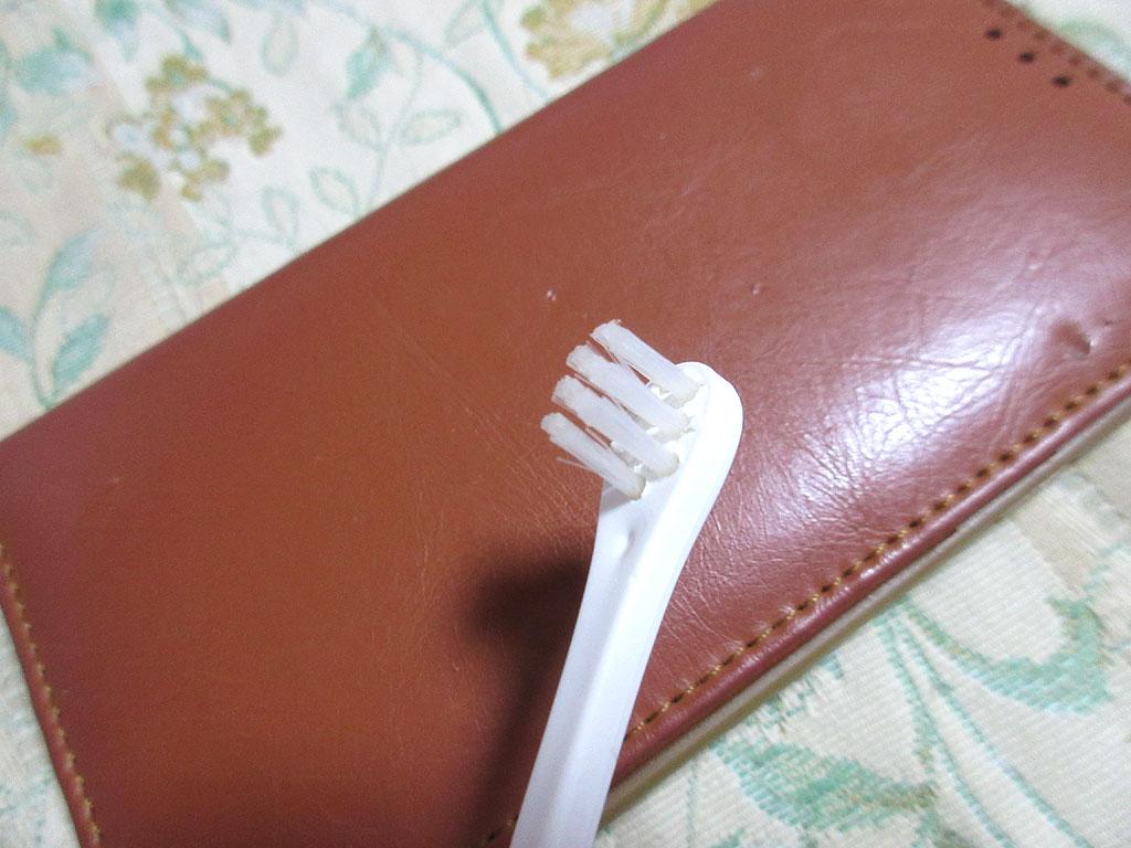 血が付いていない歯ブラシ。