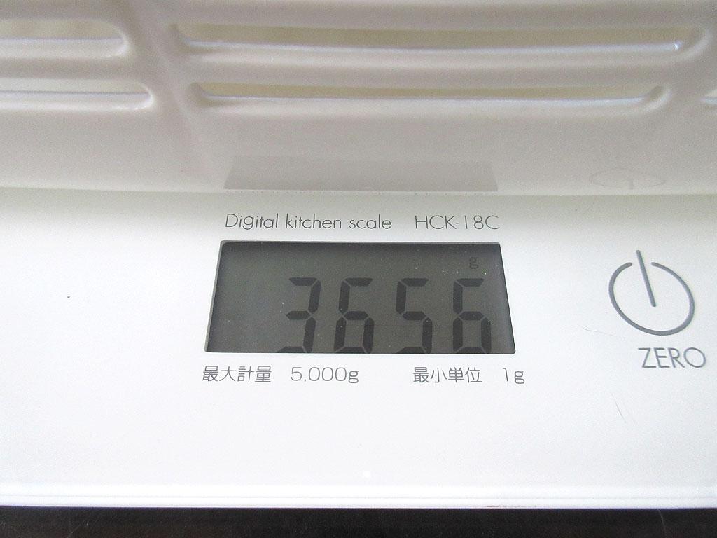 ロシ子の体重は3,656g。