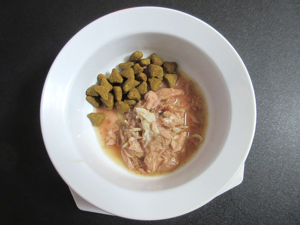 ロシ子にあげら特別ご飯。