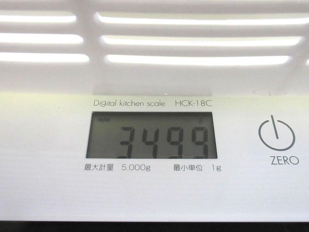 ロシ子の体重は3,499g。