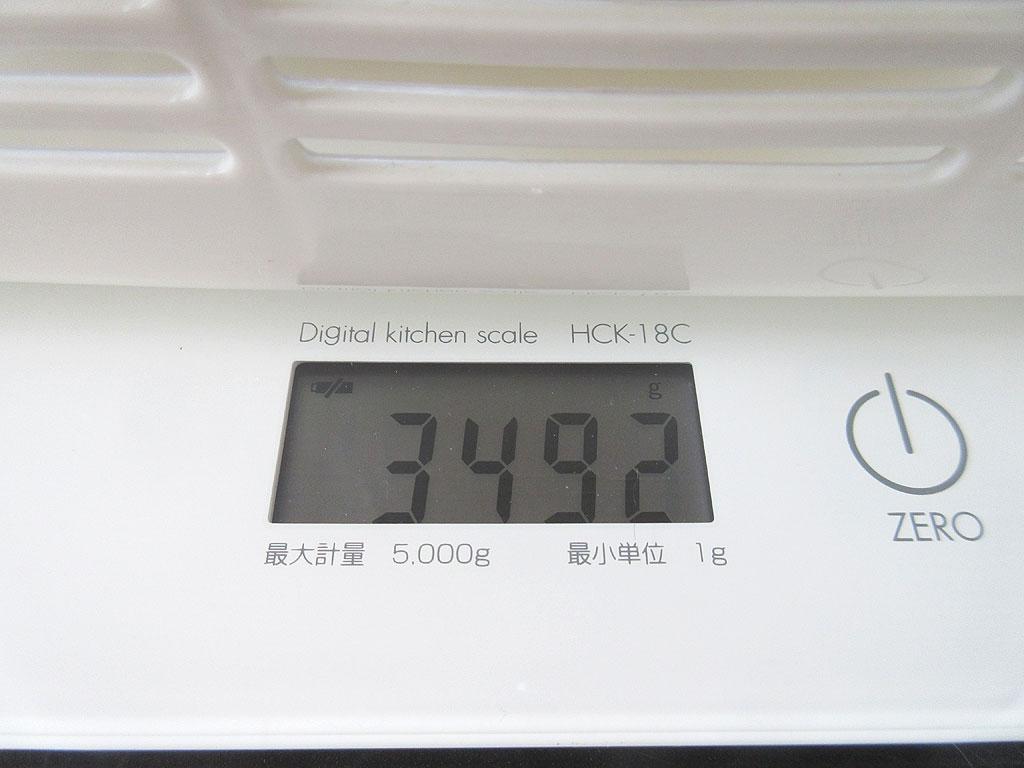 ロシ子の体重は3,492gでした。