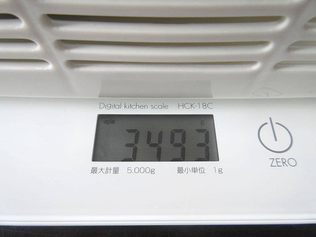 ロシ子の体重は3,493gでした。