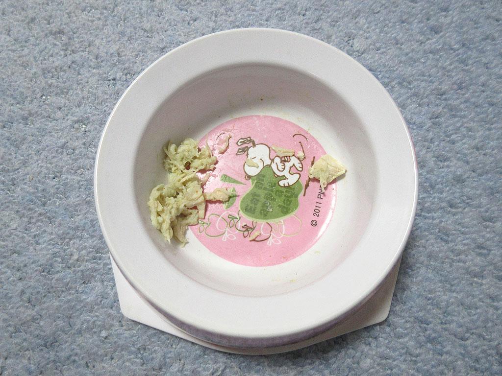 カリカリを自力で食べさせて。
