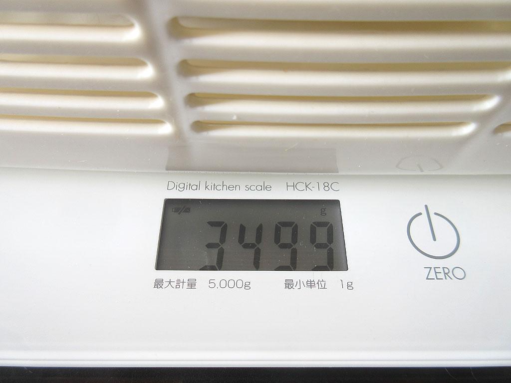 ロシ子の体重は3,499gでした。