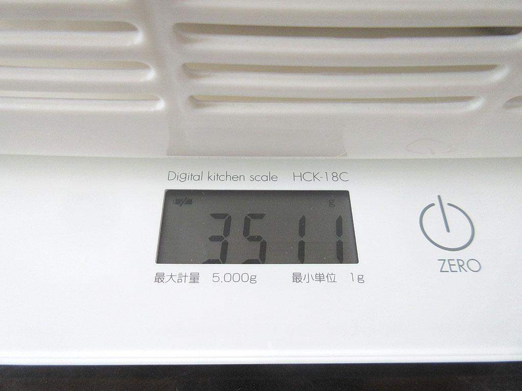 ロシ子の体重は3,511gでした。