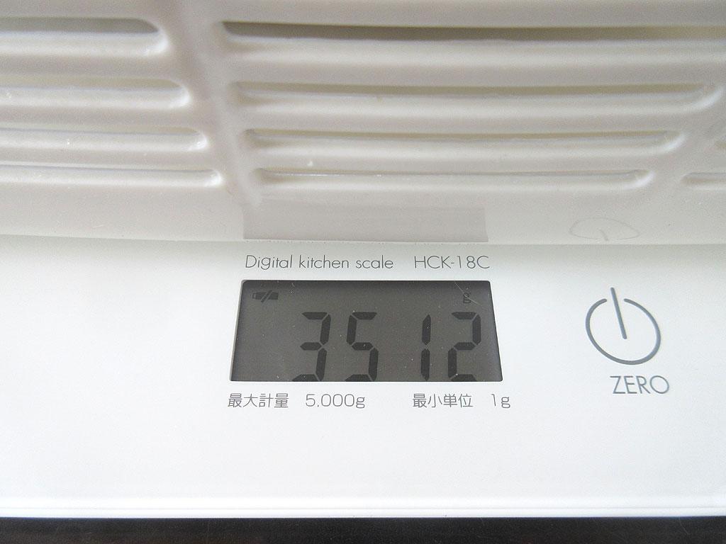 ロシ子の体重は3,512g。