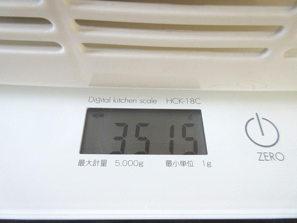 ロシ子の体重は3,515gでした。