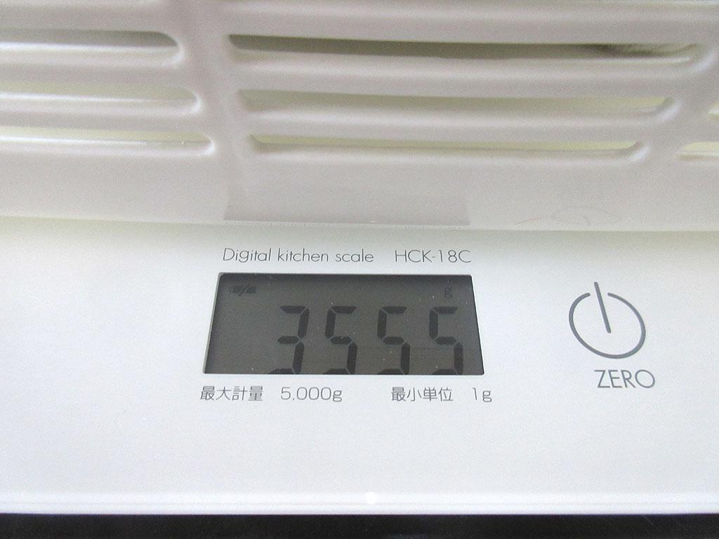 ロシ子の体重は3,555g。