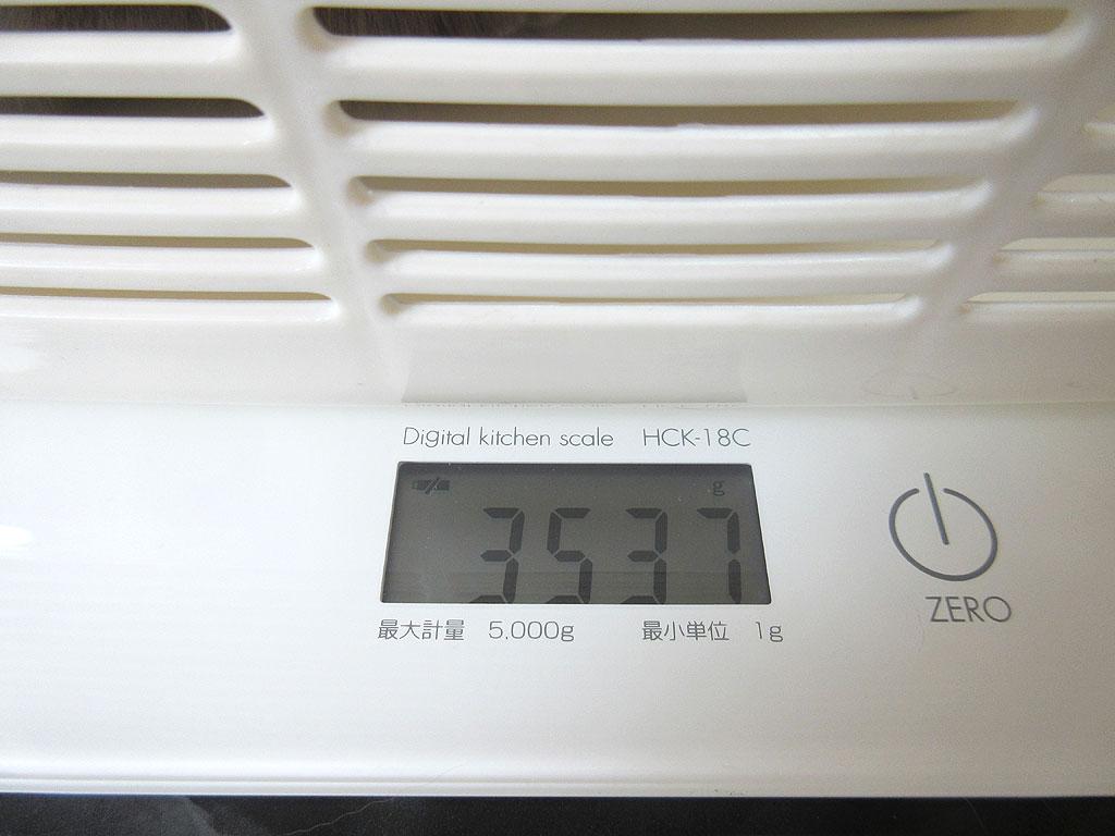 ロシ子の体重は3,537g。
