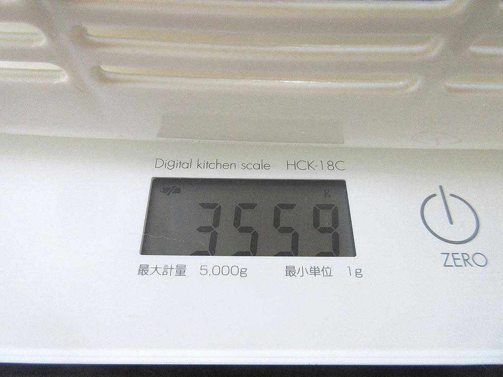 ロシ子の体重は3,559g。