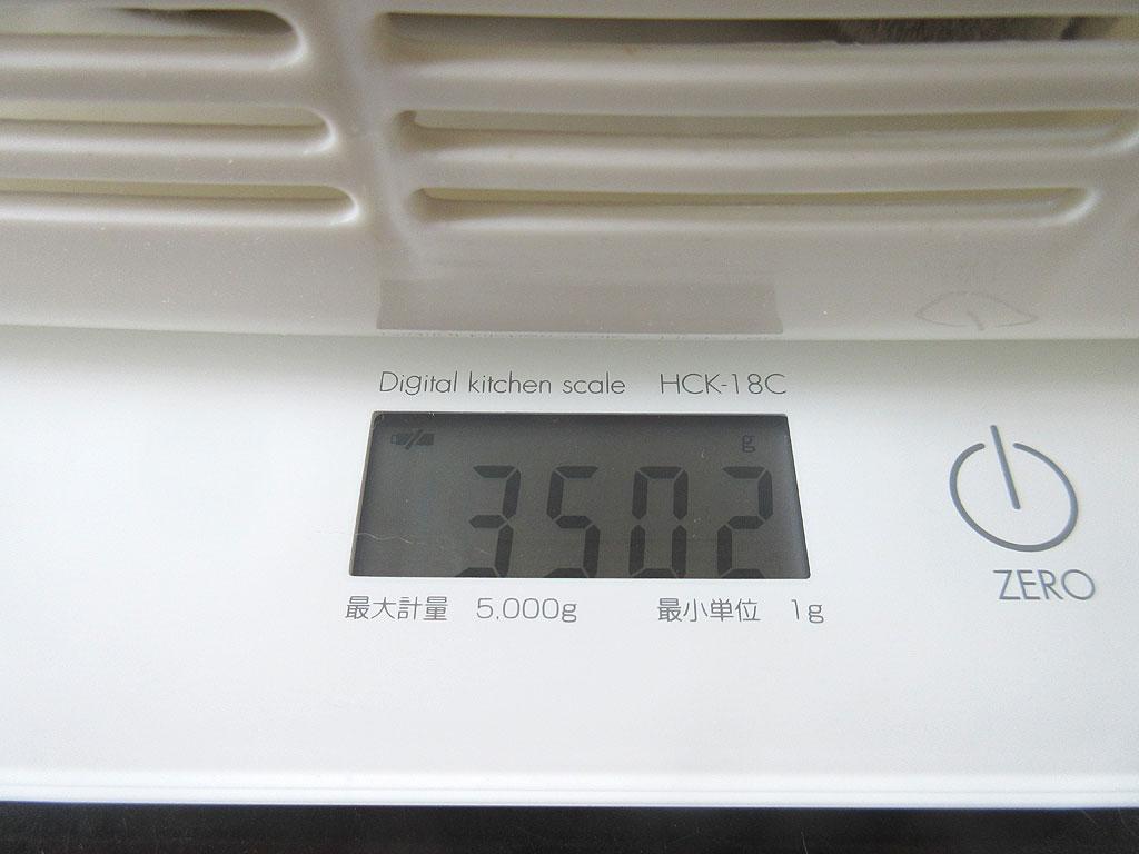 ロシ子の体重は3,502g。