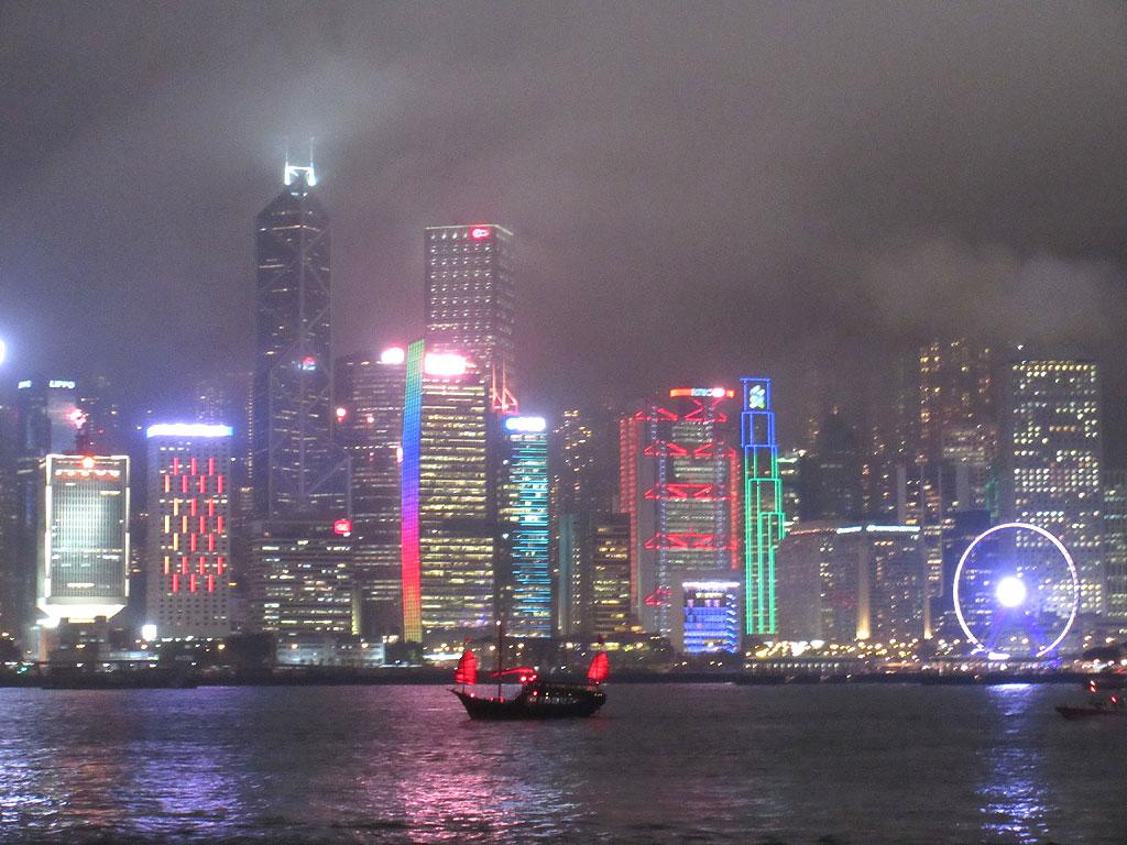 香港の夜景。