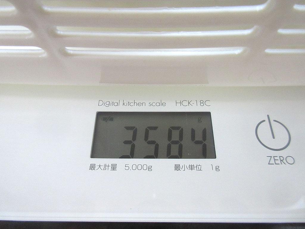 ロシ子の体重は3,584g。