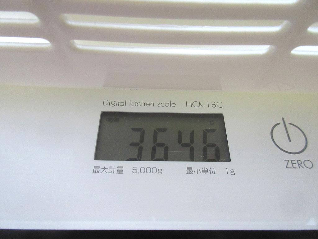ロシ子の体重は3,646gでした。