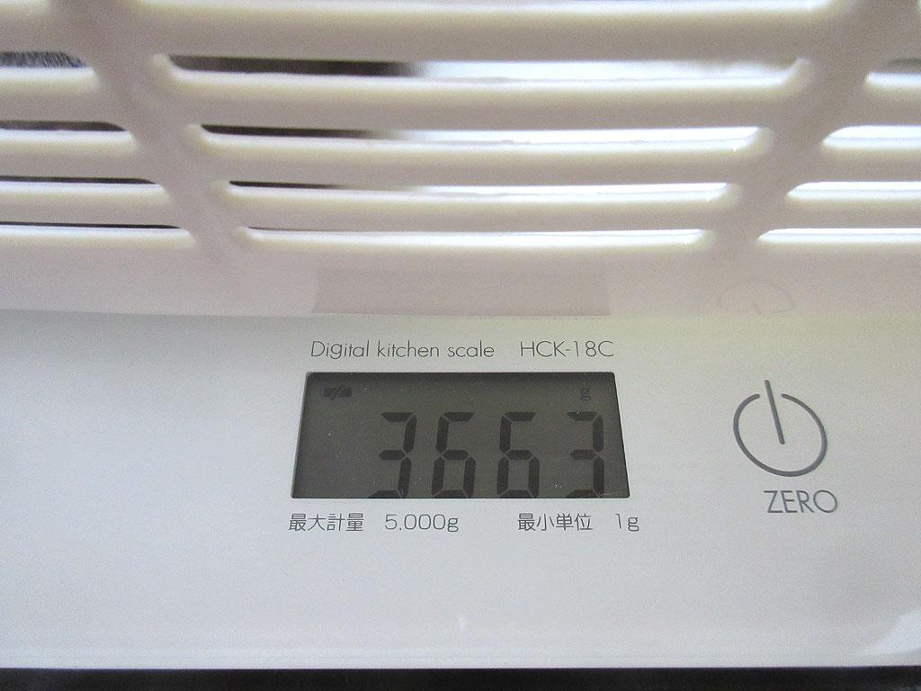 ロシ子の体重は3,663g。