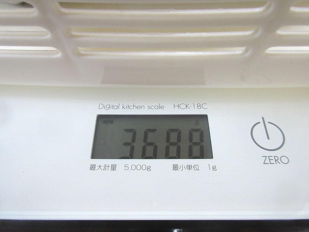 ロシ子の体重は3,688gでした。