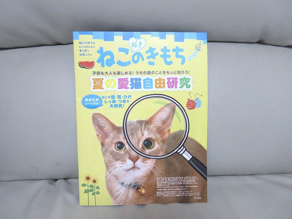 雑誌「ねこのきもち」の別冊。