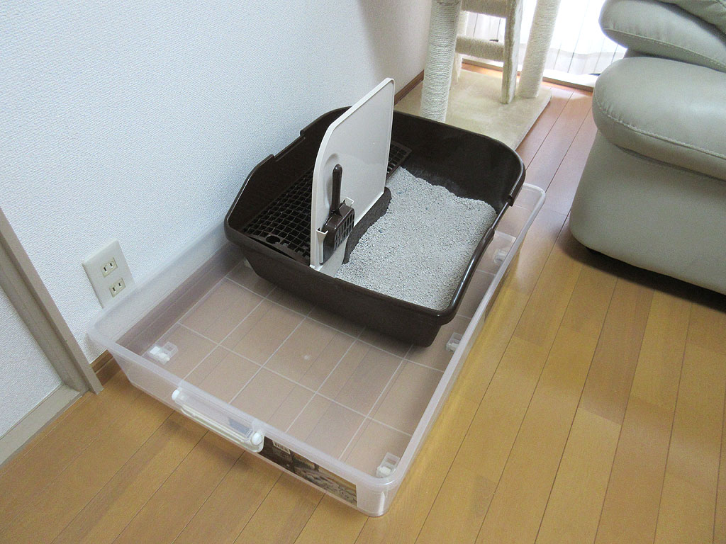 新しい1階の猫砂のトイレ。
