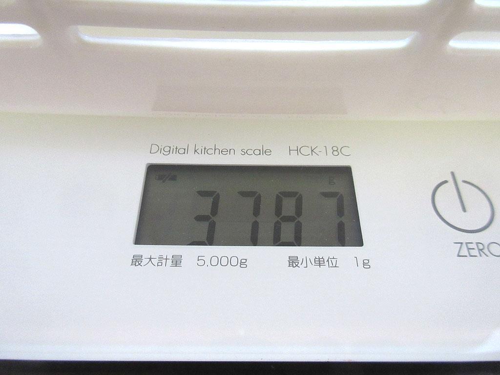 ロシ子の体重は3,787gでした。