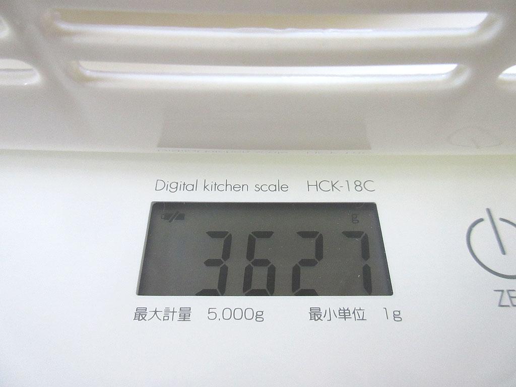 ロシ子の体重は3,627g。