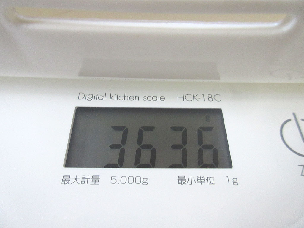 ロシ子の体重は3,636g。