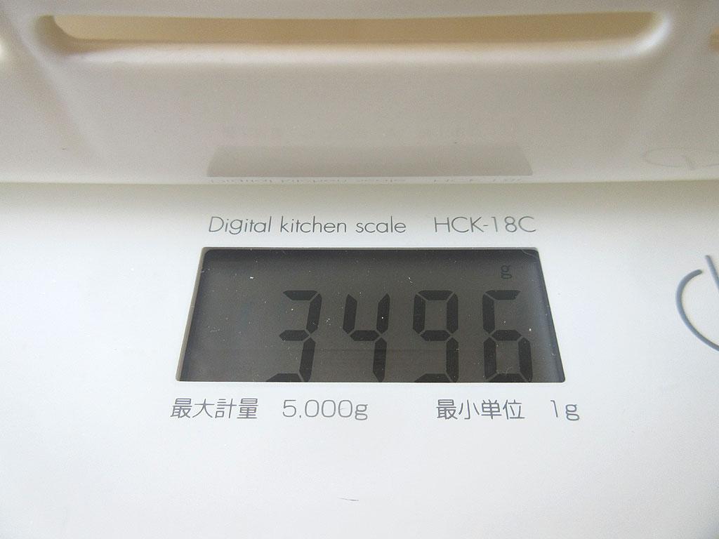 ロシ子の体重は3.4kg台に。