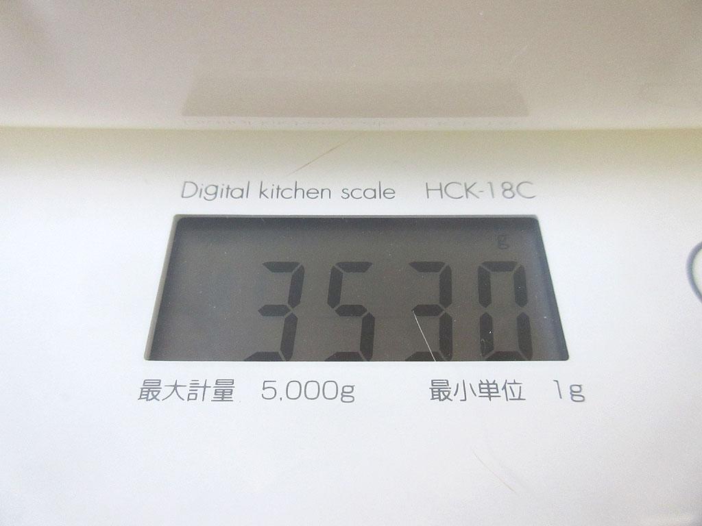 ロシ子の体重は3,530g。