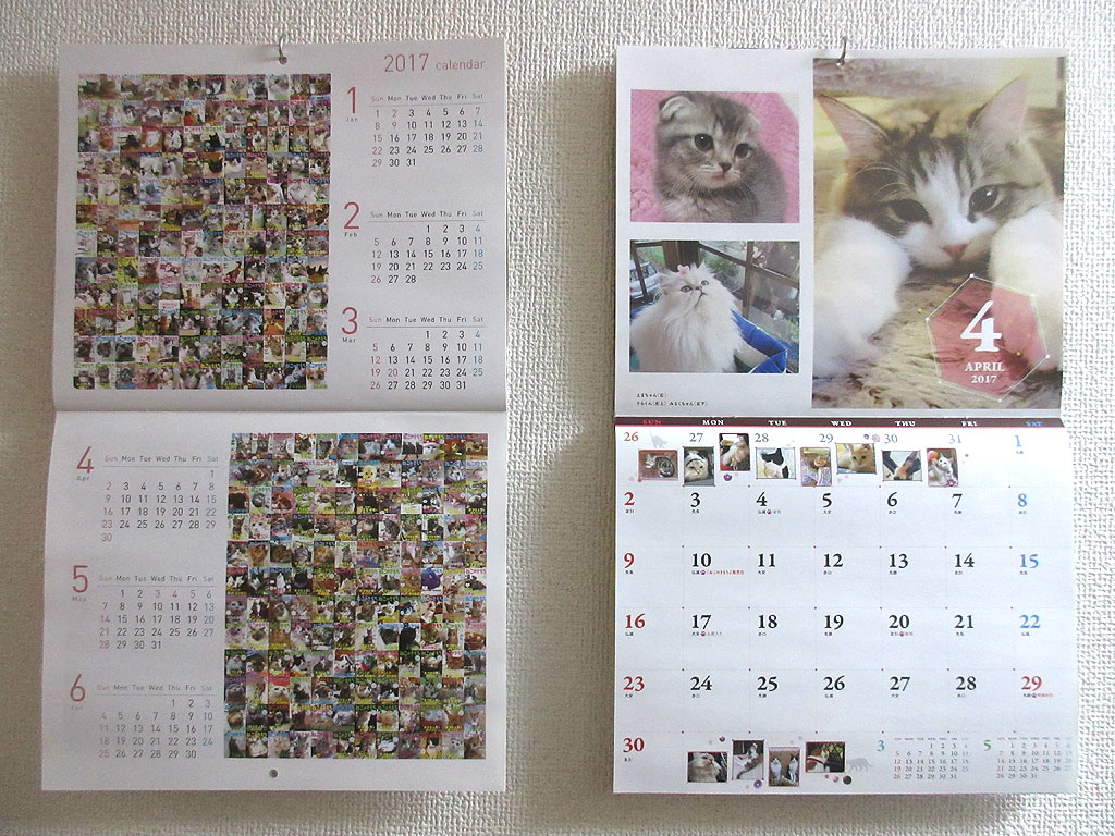 猫の気持ちのカレンダー。