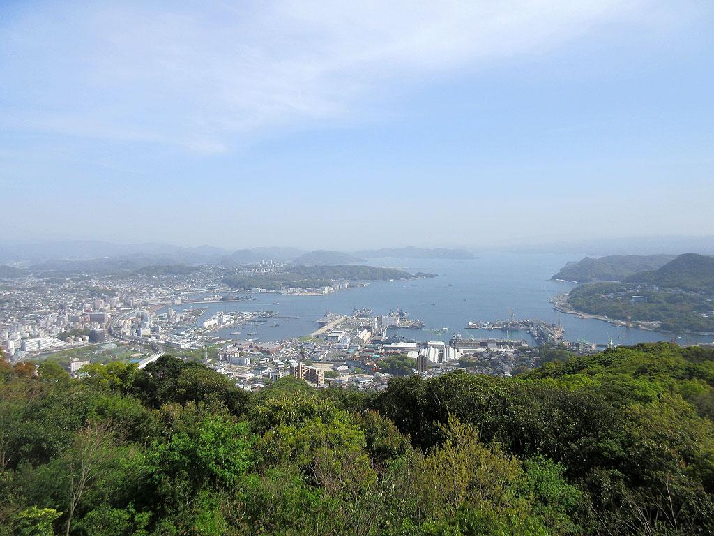 弓張丘展望台からの眺望。