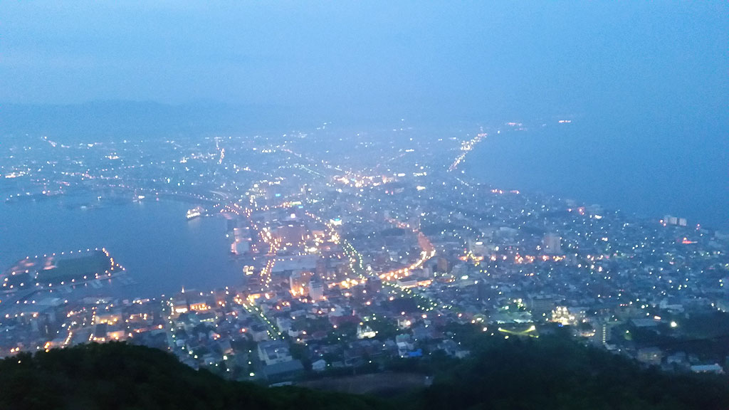 函館山の夜景。