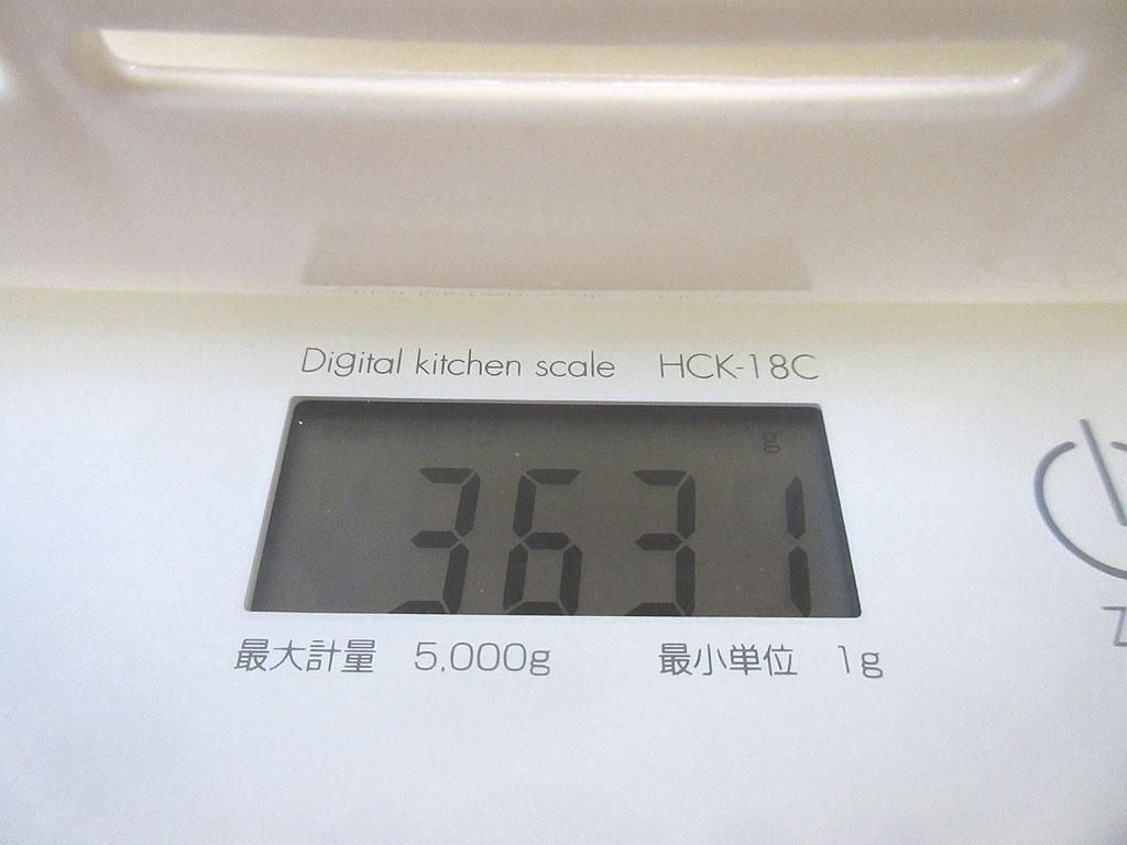 ロシ子の体重は3,631g。