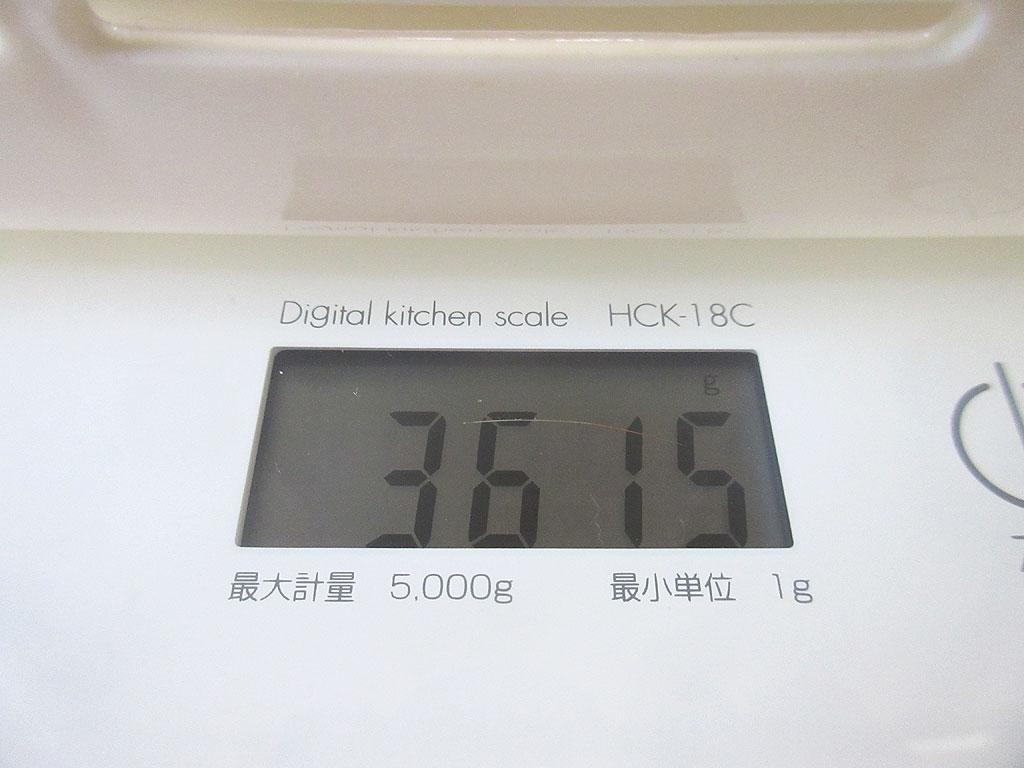 ロシ子の体重は3,615g。