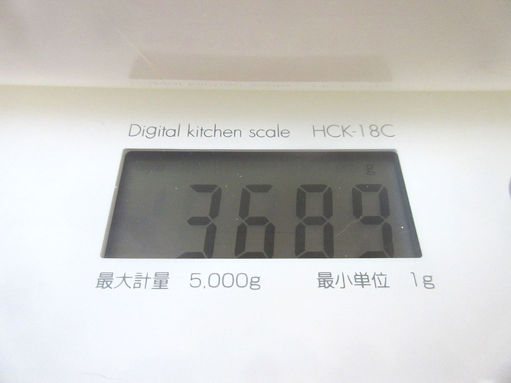 ロシ子の体重は3,689g。