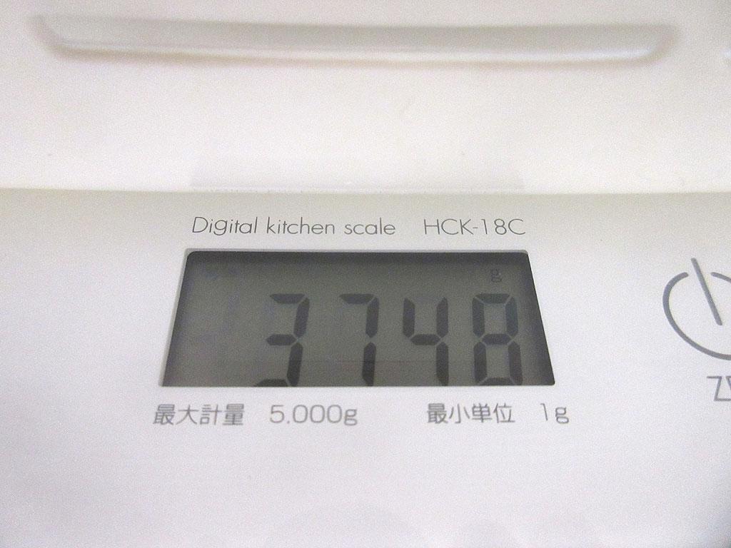 ロシ子の体重は3,748g。
