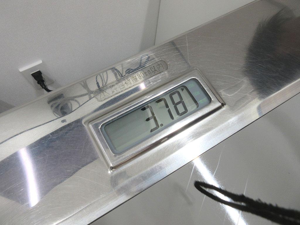 ロシ子の体重は3,780g。