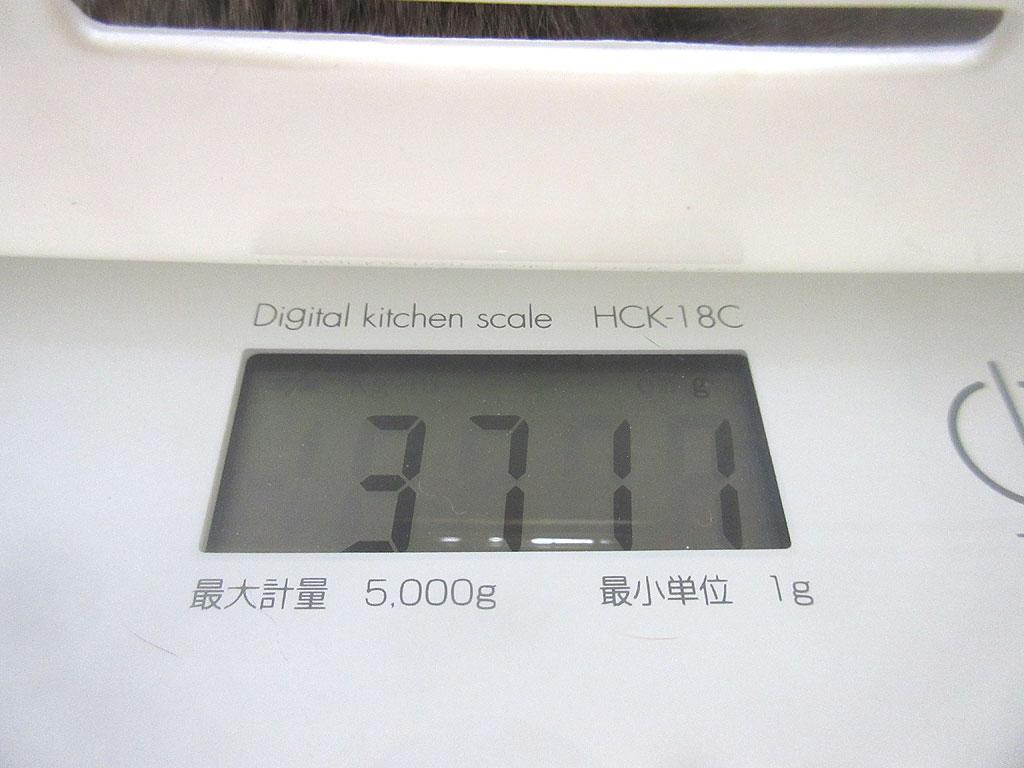 ロシ子の体重は3,711g。