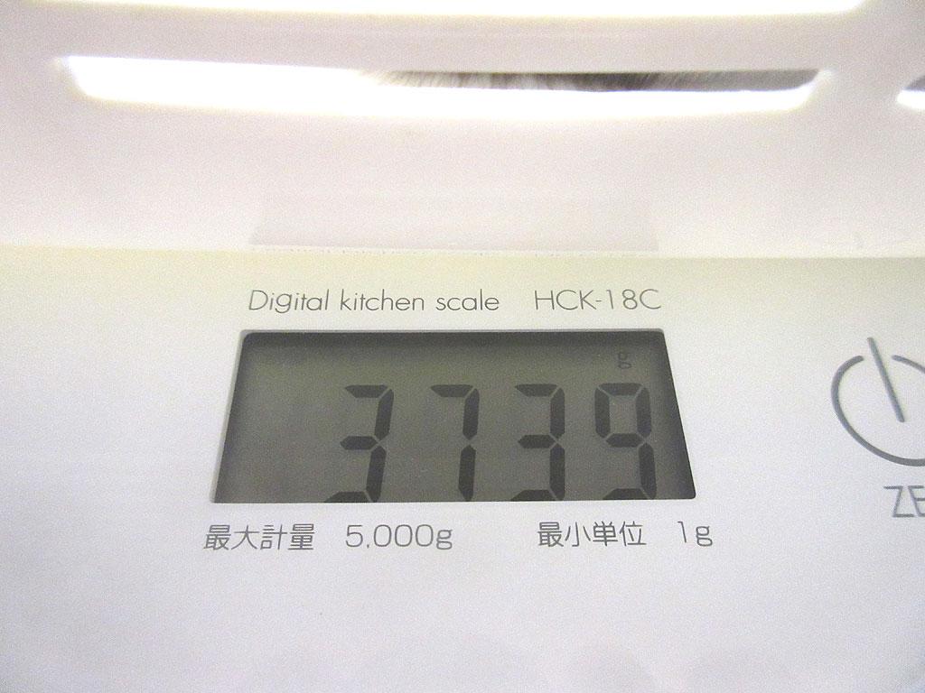 ロシ子の体重は3,739g。