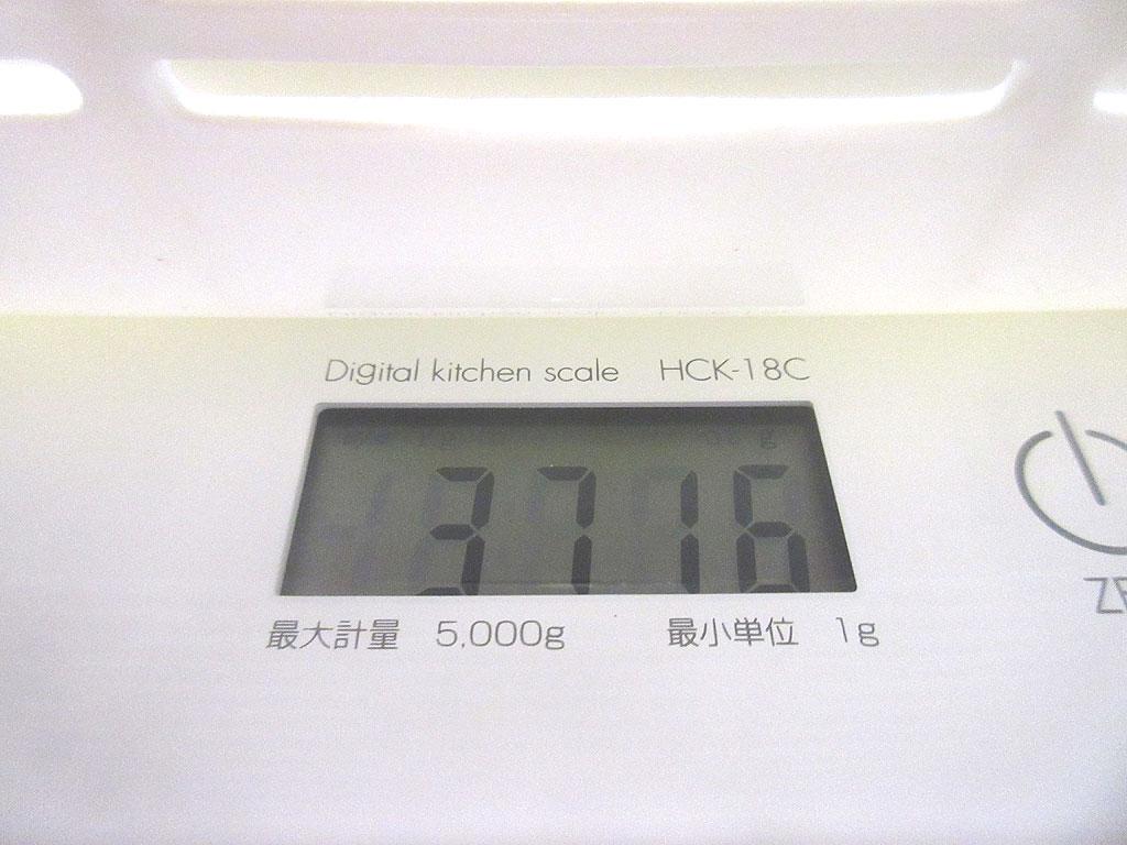 ロシ子の体重は3,716g。