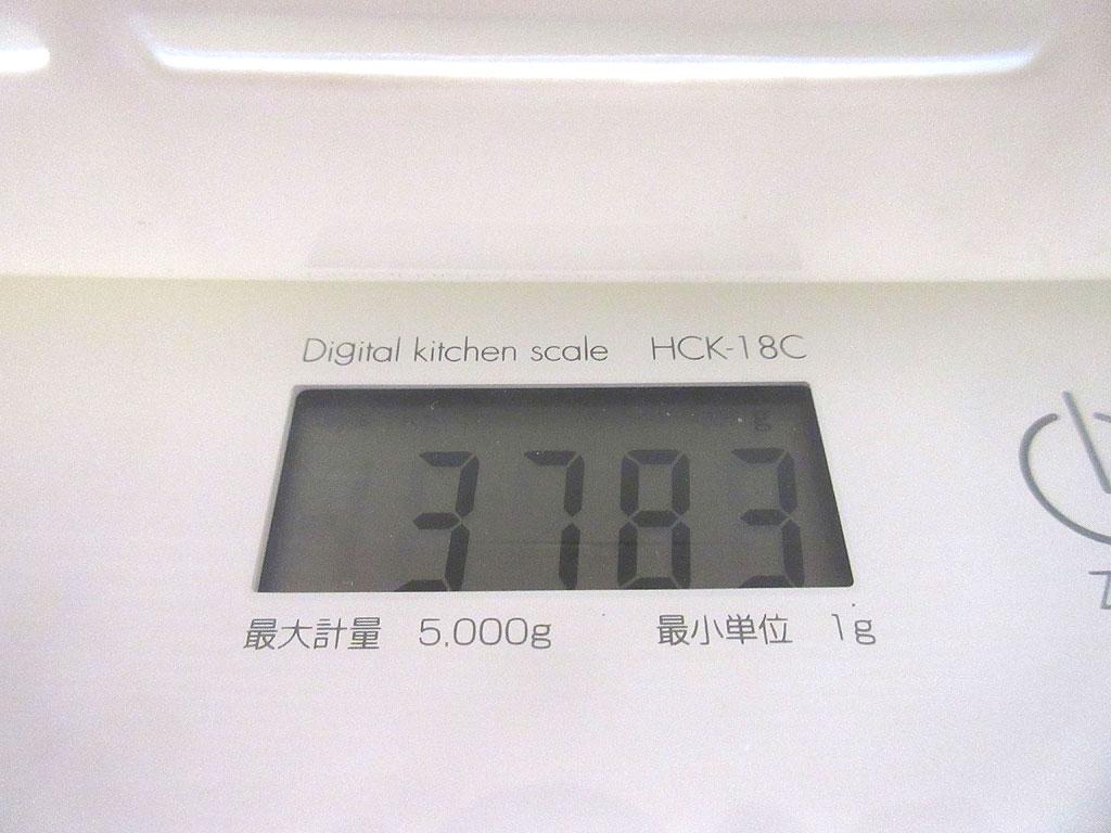 ロシ子の体重は3,783g。