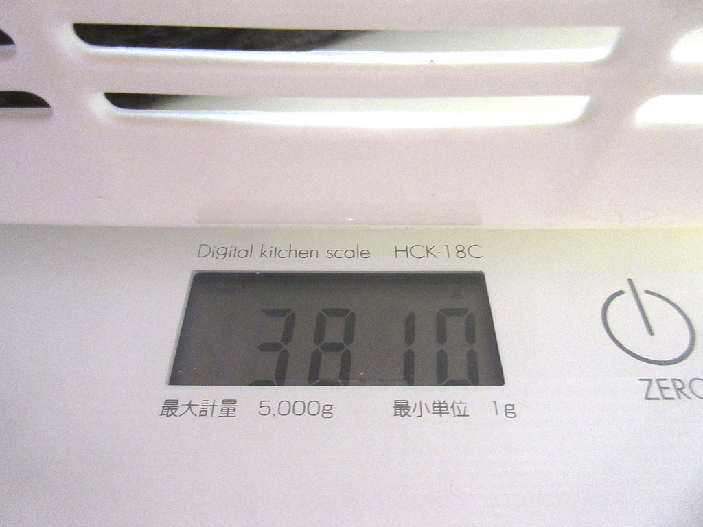 ロシ子の体重は3,810g。