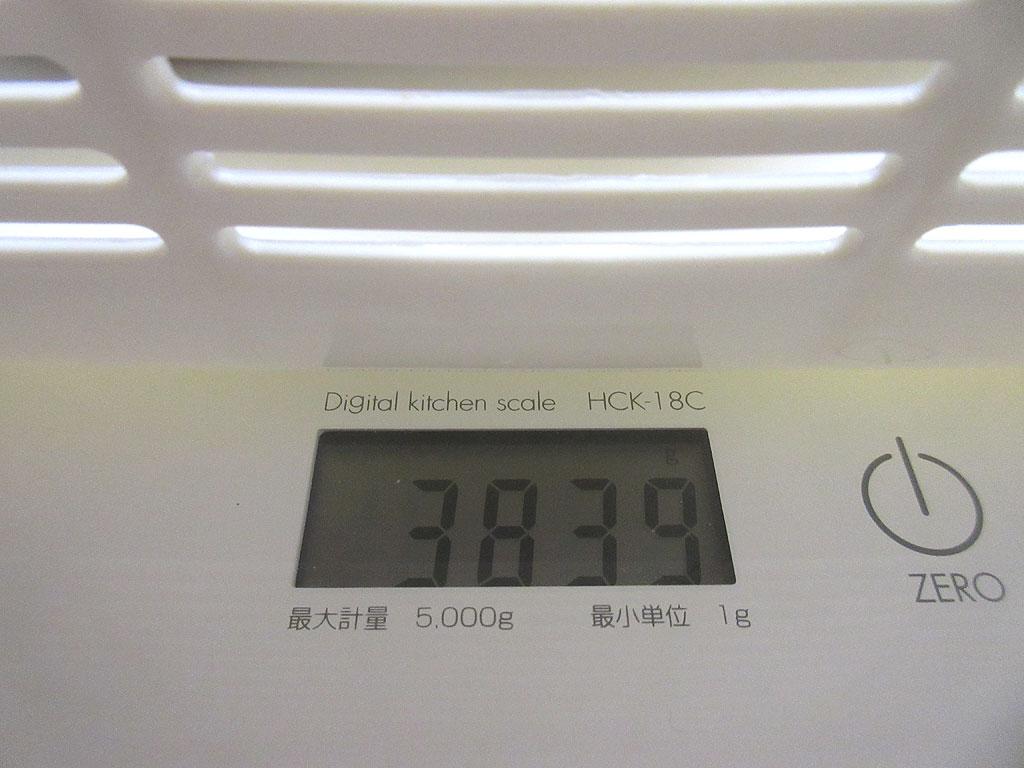 ロシ子の体重は3,839g。