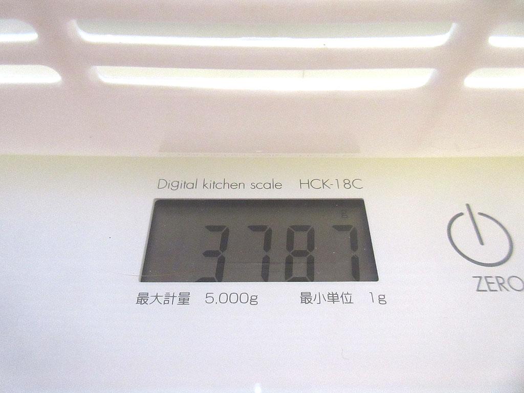 ロシ子の体重は3,787g。