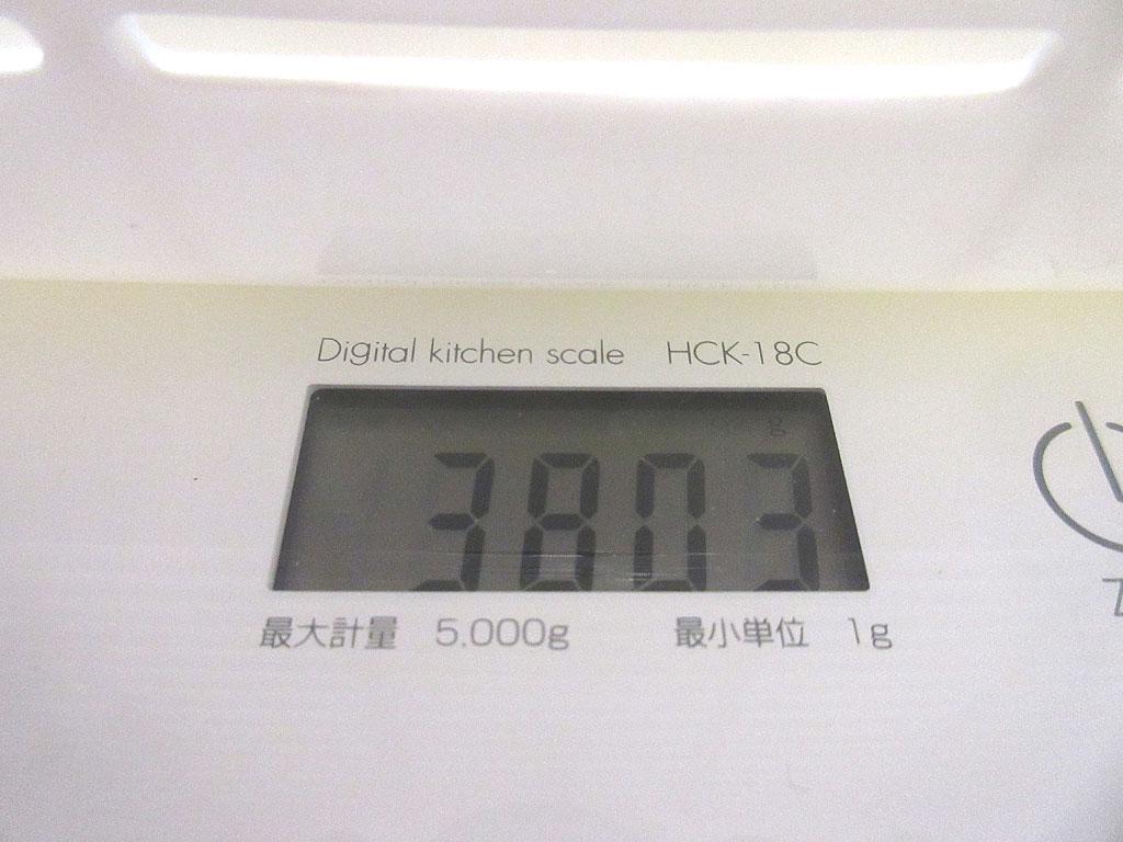 ロシ子の体重は3,803g。