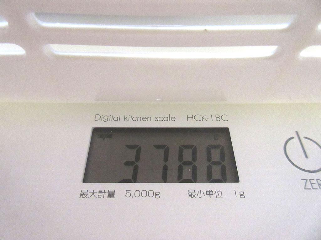 ロシ子の体重は3,788g。