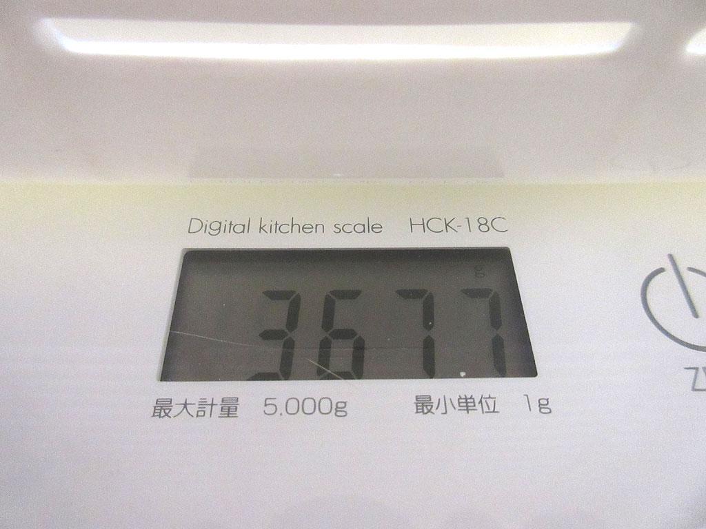 ロシ子の体重は3,677g。