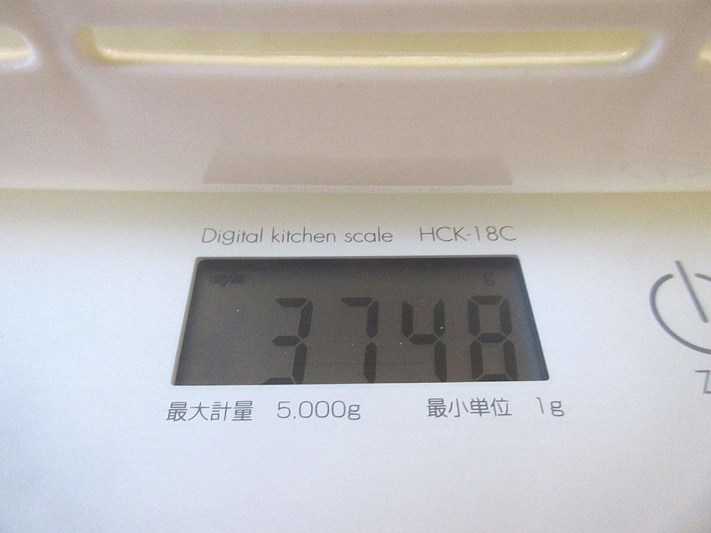 新年1回目のロシ子の体重は3,748g。