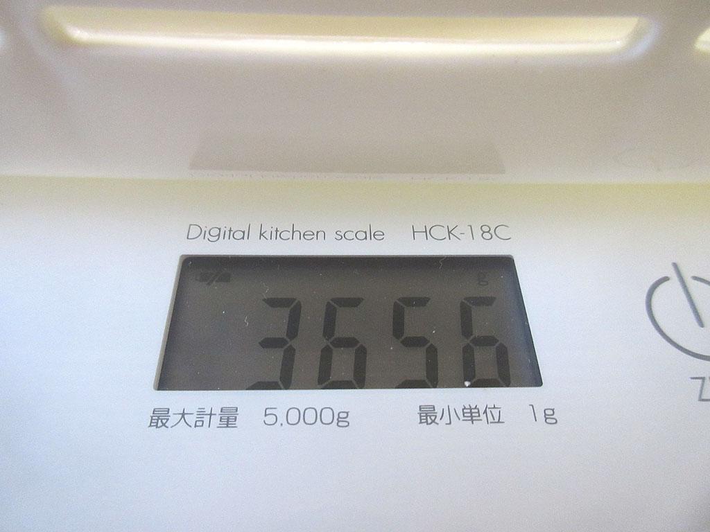 ロシ子の体重は3,656gでした。