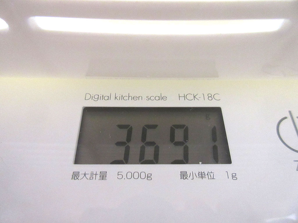 ロシ子の体重は3,691g。