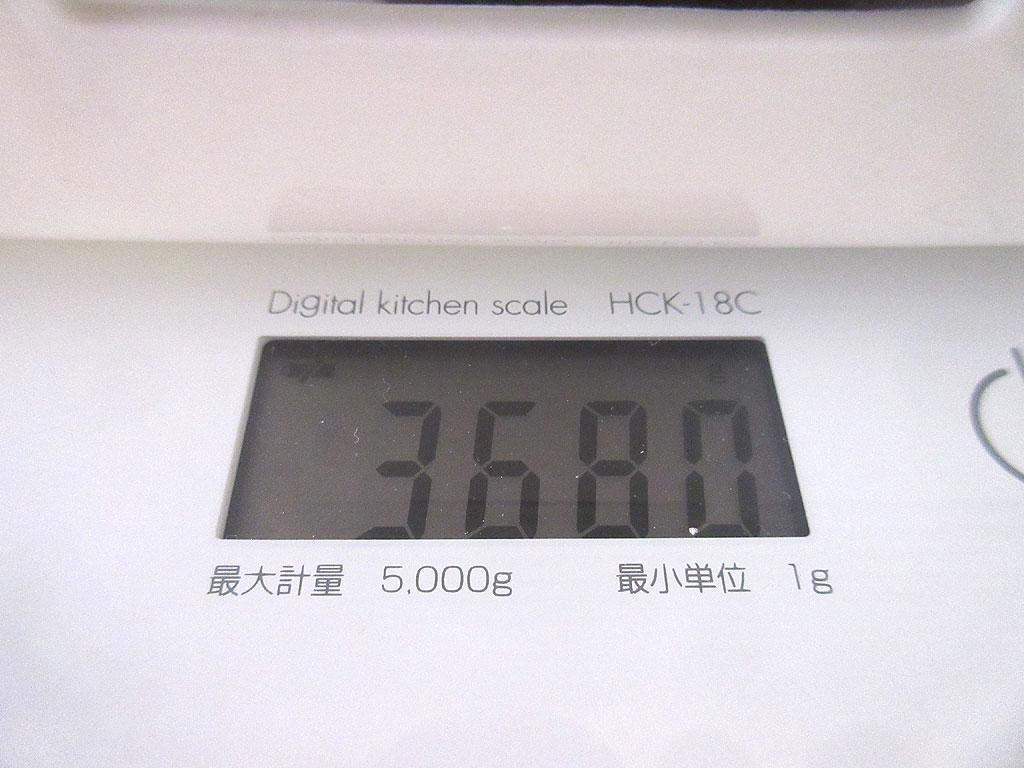 ロシ子の体重は3,680gでした。